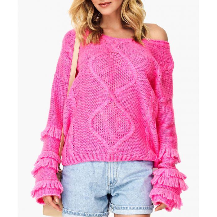 Image for Neon pink wool blend jumper