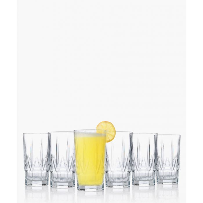 Image for 6pc Chic Luxion Crystal hi-Ball and short tumbler glasses