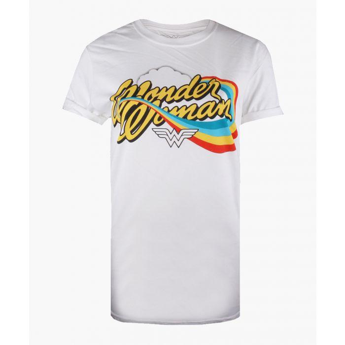 Image for WW rainbow white cotton T-shirt