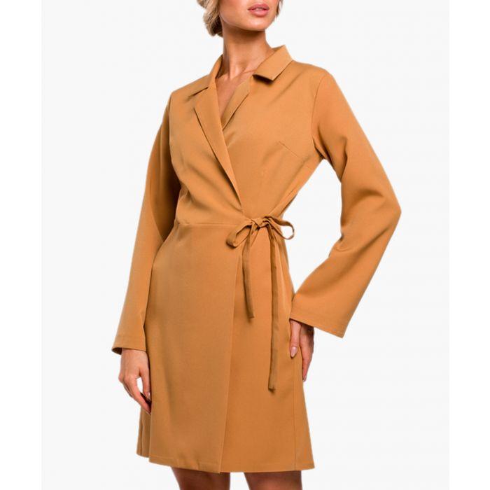 Image for Cinnamon wrap mini dress