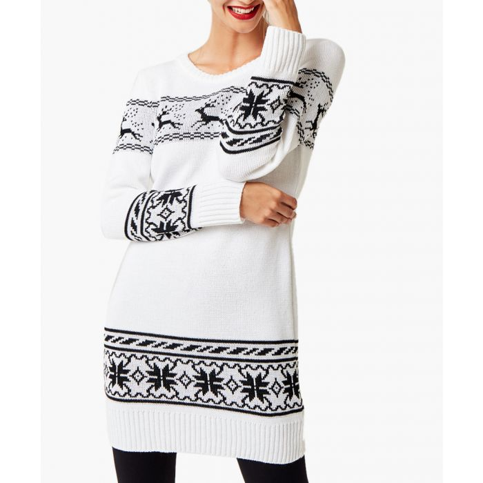 Image for White loose cut jumper