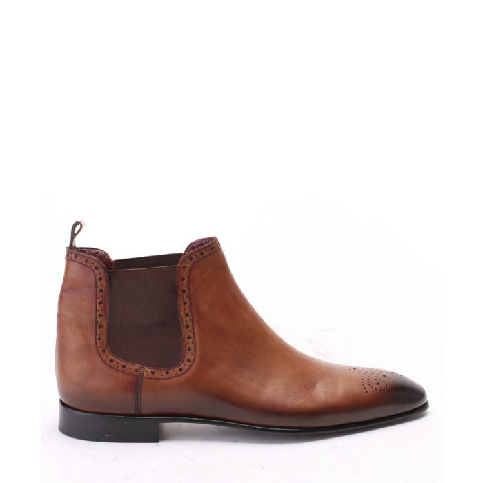 Image for Brown suede leather ankle boots