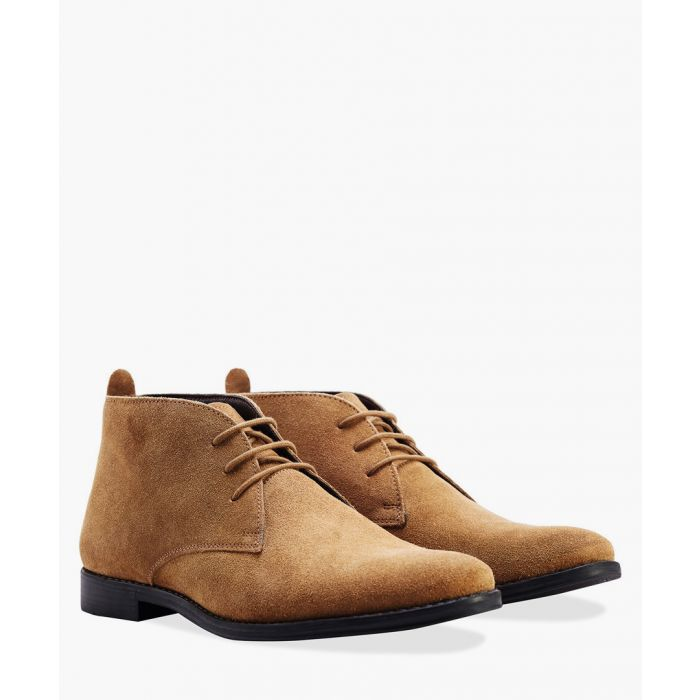 Image for Tan leather desert boots