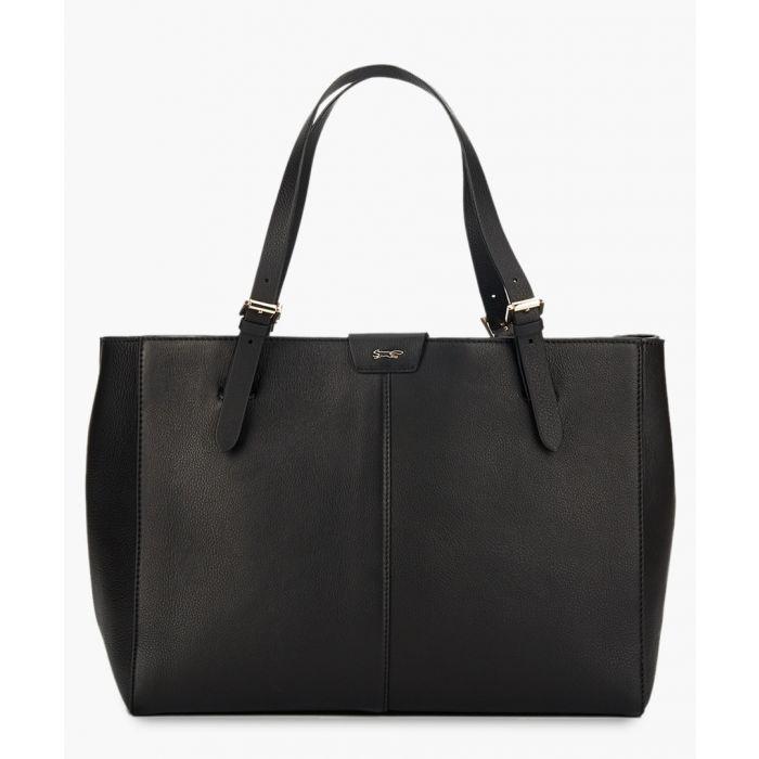 Image for Argo black leather shopper