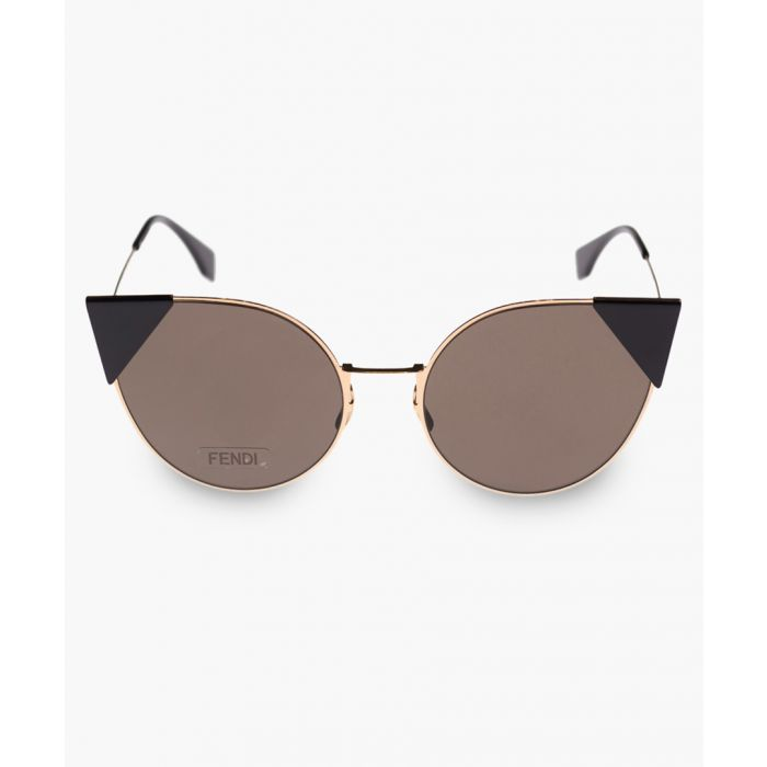 Image for Rose gold-tone and blue sunglasses
