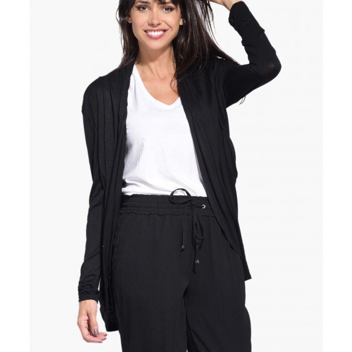 Image for Black silk blend cardigan