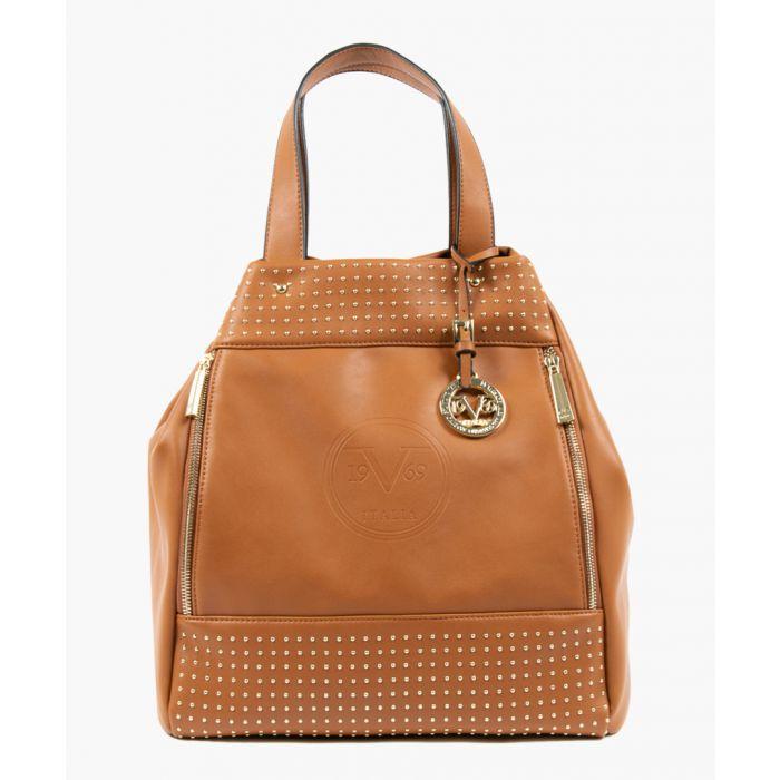 Image for Brown studded bag