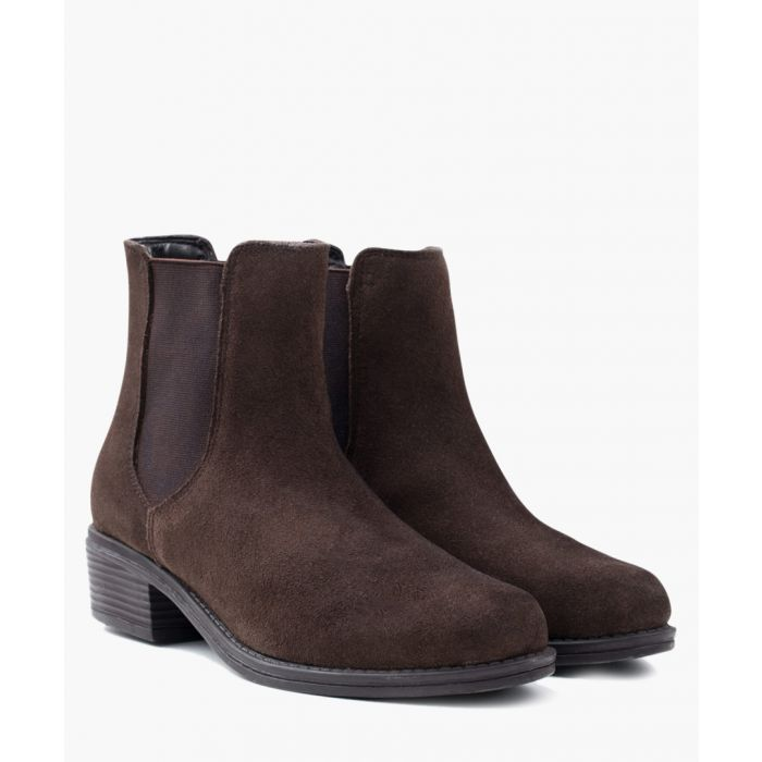 Image for Brown suede Chelsea boots
