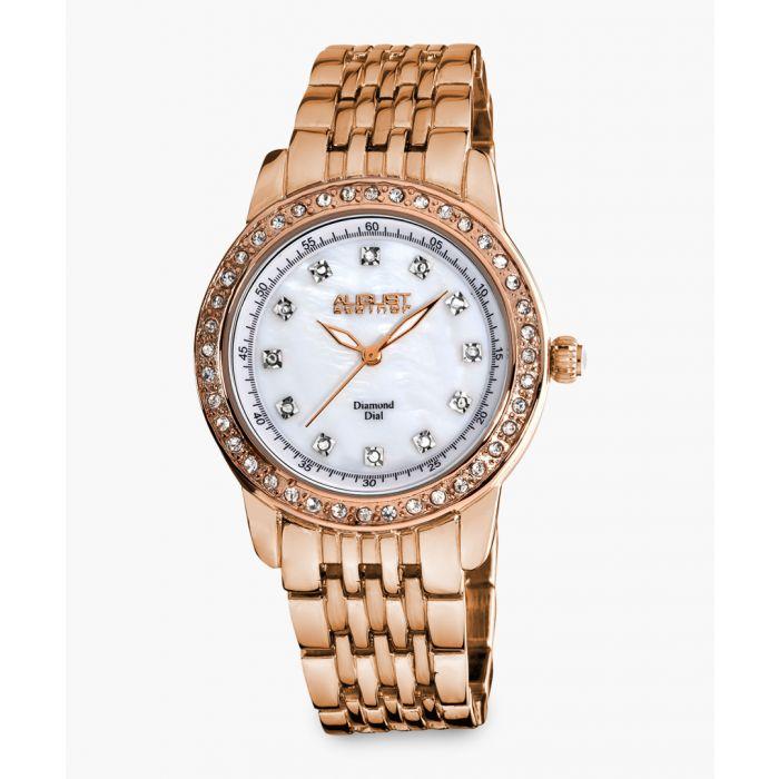 Image for Rose gold-tone embellished watch