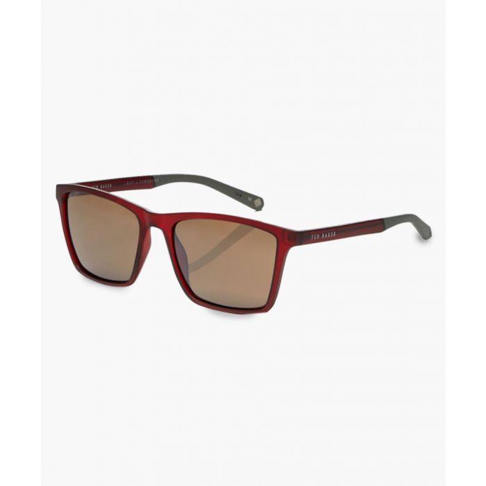 Image for Wade burgundy sunglasses