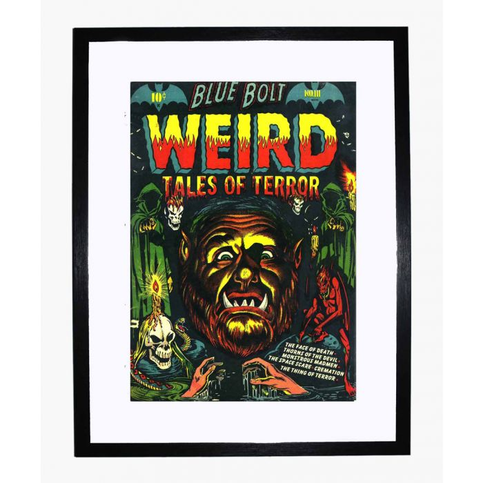 Image for Blue Bolt Weird 111 framed print