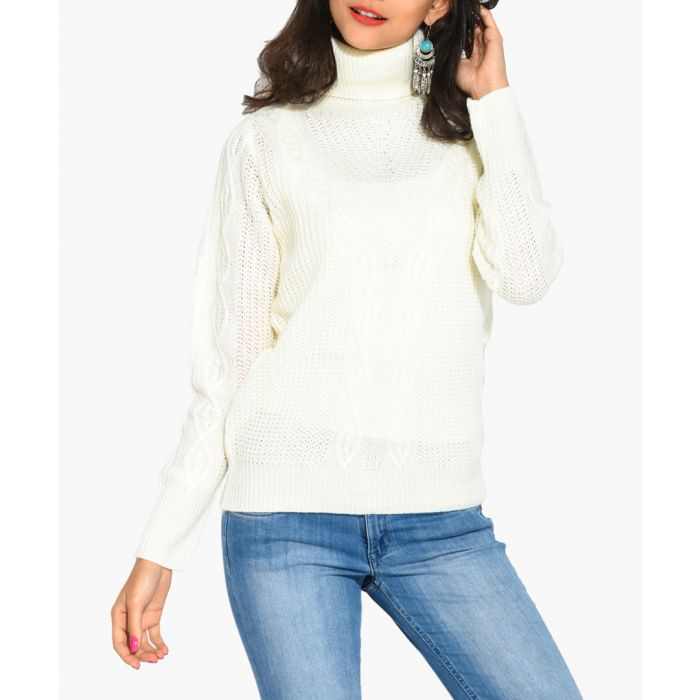 Image for White cashmere and mohair blend jumper