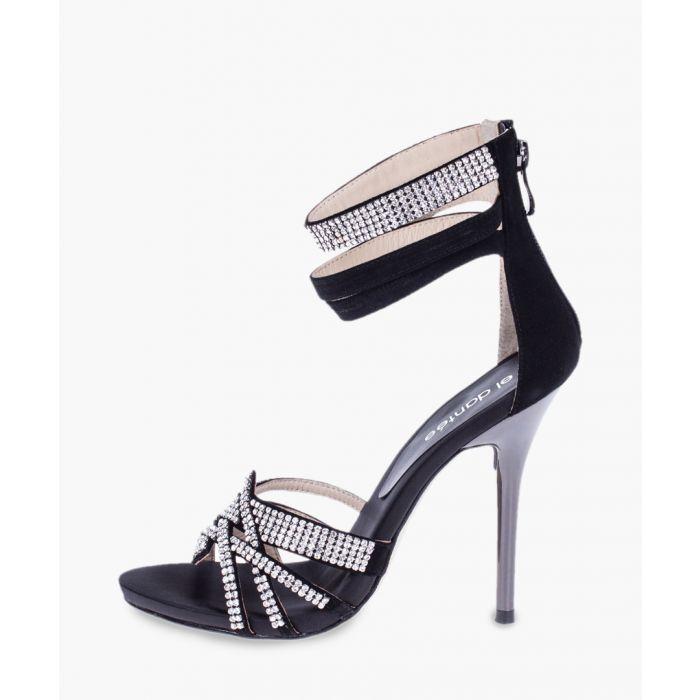 Image for Black leather heels