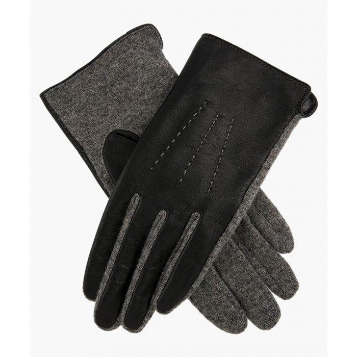 Image for Charcoal and black gloves