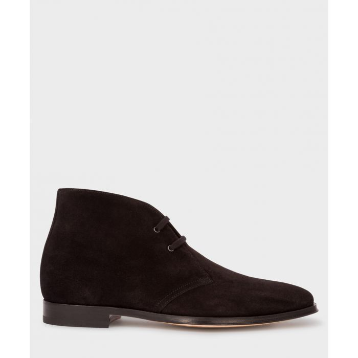 Image for Black suede desert boots