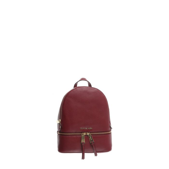 Image for Rhea red leather backpack