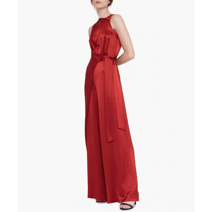 Image for The Syon rust satin jumpsuit