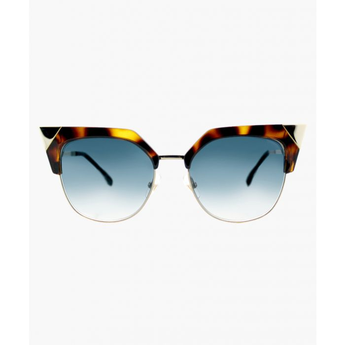 Image for Havna gold-tone and azure sunglasses