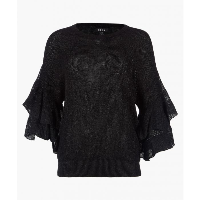 Image for Black ruffle stitch sweatshirt
