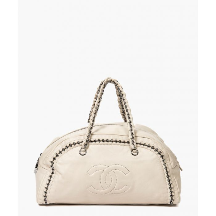 Image for Vintage Boston ivory chain bag