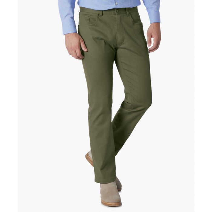 Image for Olive slim fit 5 pocket trousers