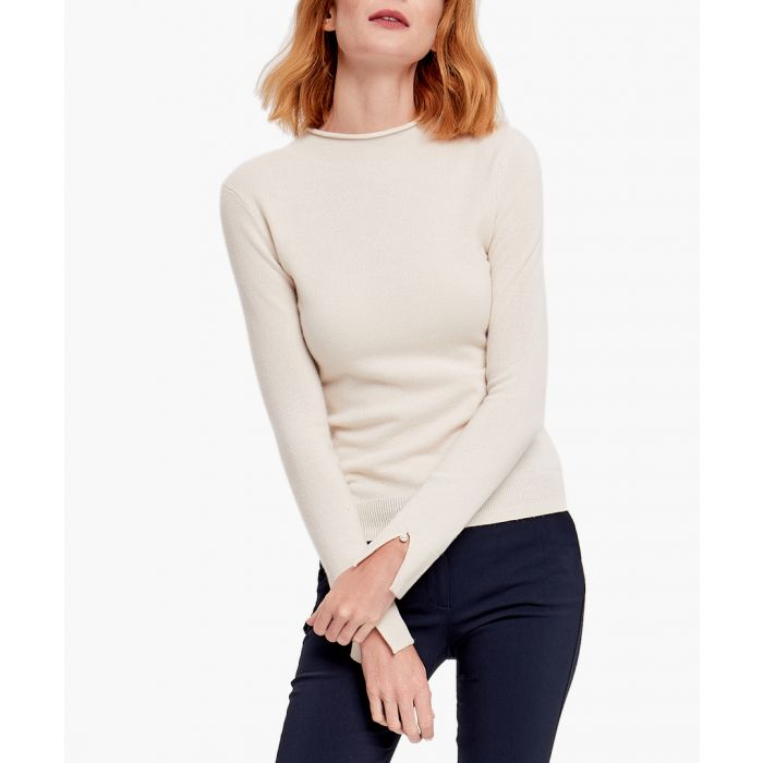Image for White pure cashmere jumper