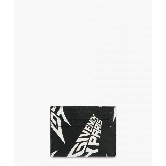 Image for Black and white logo print cardholder