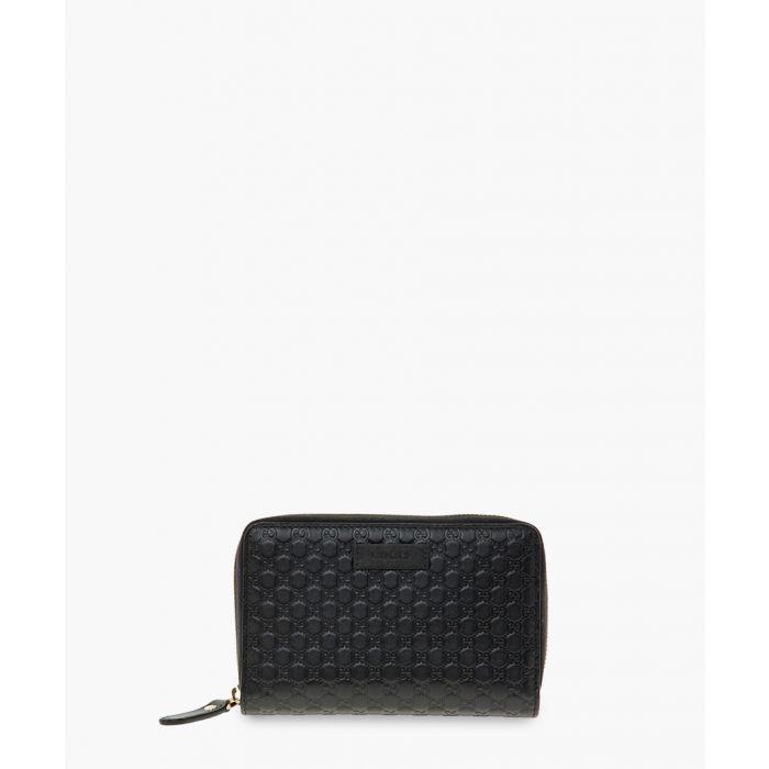 Image for Black Microguccissima zip-around wallet