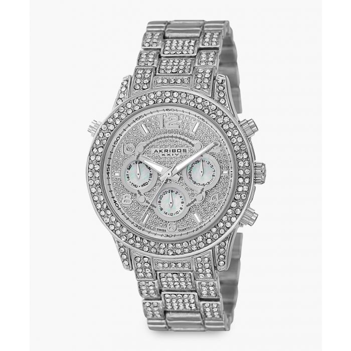 Image for Silver-tone and crystal watch