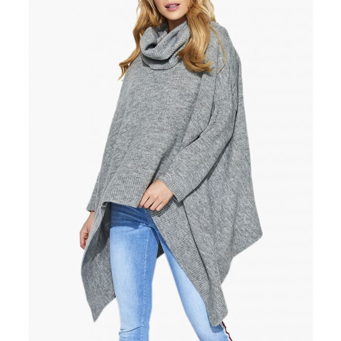 Image for Grey melange mohair and wool blend knitted sweater