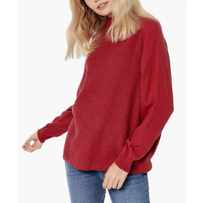 Image for Red cashmere blend pullover