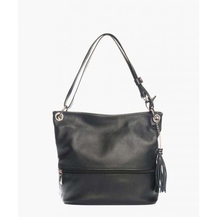 Image for Lambro black leather shoulder bag