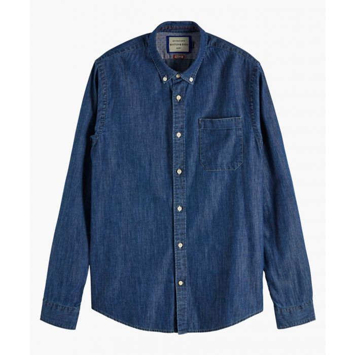 Image for Blue cotton denim shirt