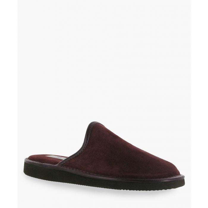 Image for Mens burgundy slippers