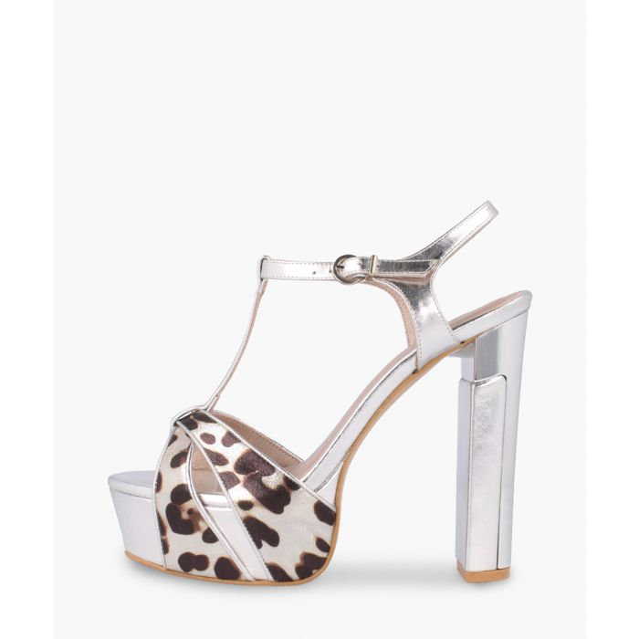 Image for Animal printed leather heels