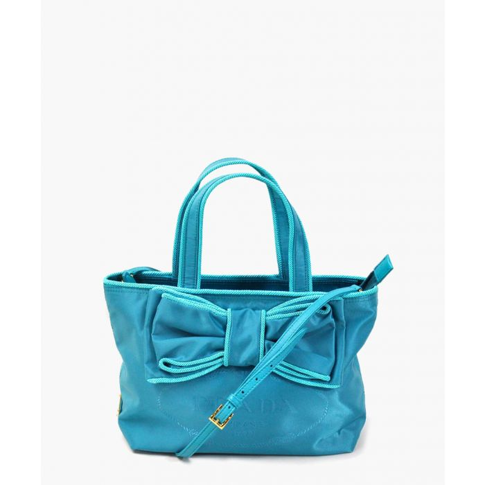 Image for Jacquard Passam turquoise shopper