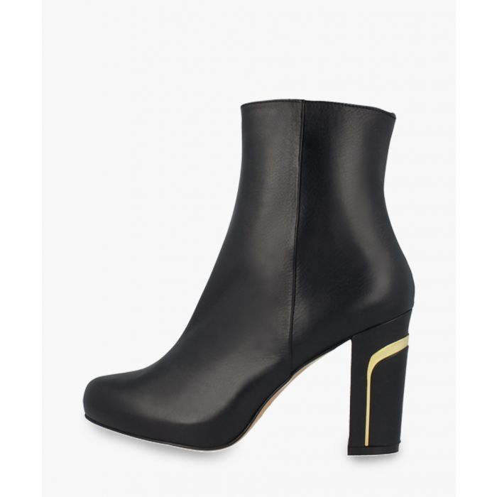 Image for Black leather ankle boots