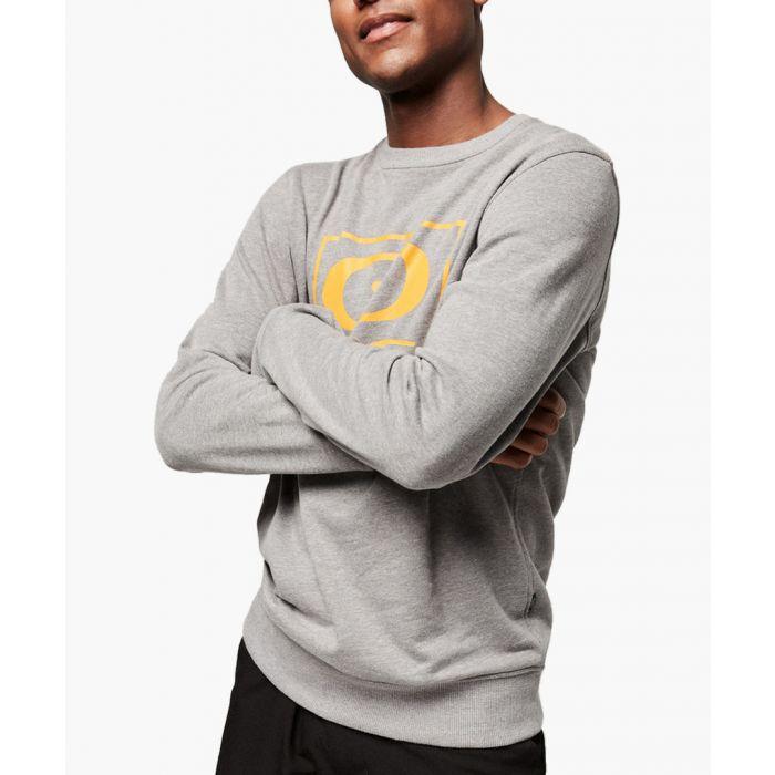 Image for Grey cotton blend crew sweatshirt