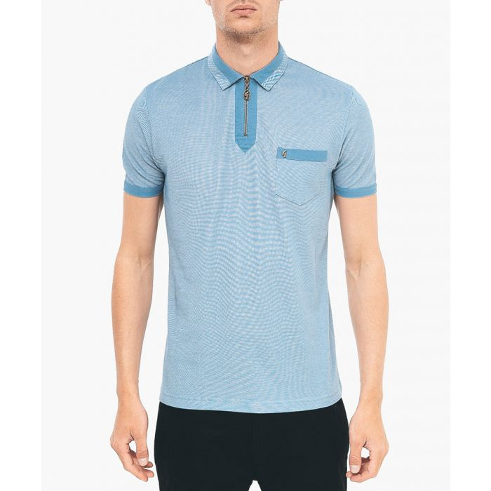 Image for Shadow pure cotton polo shirt