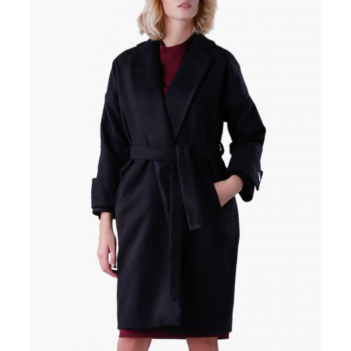 Image for Black wool and cashmere blend coat