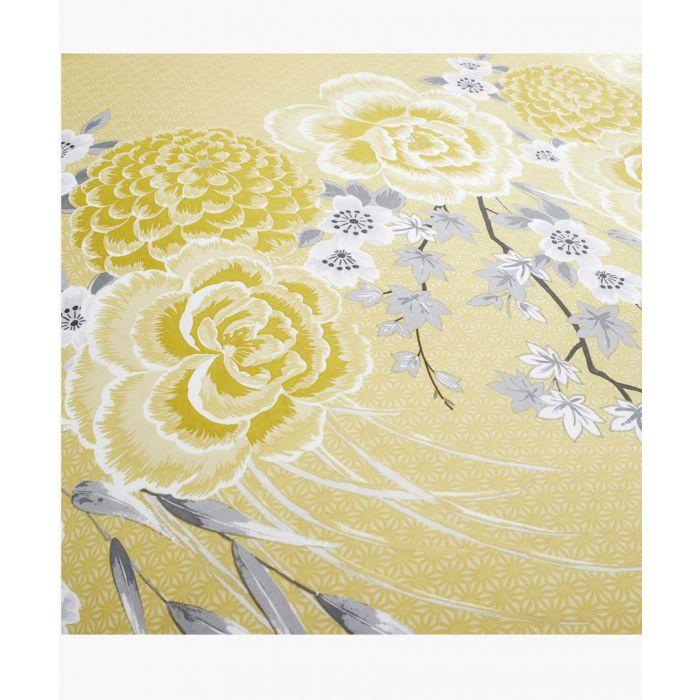 Image for Oriental blossom yellow cotton blend single duvet set