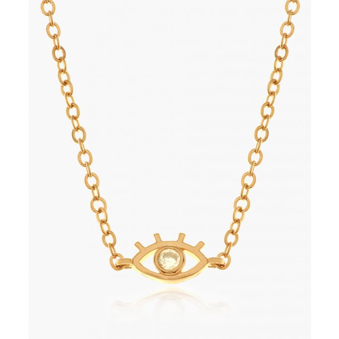 Image for Eyes On Me 14k rose gold-plated necklace