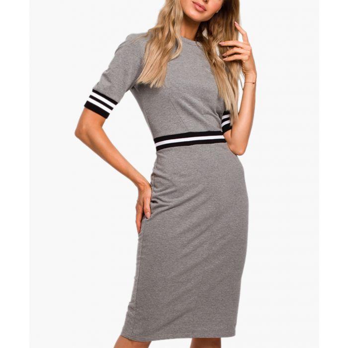 Image for Grey cotton blend dress