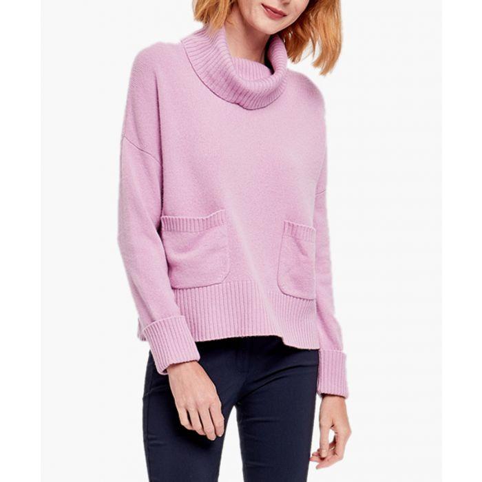 Image for Light purple merino wool blend jumper