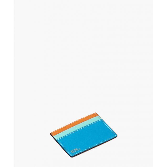 Image for Blue leather cardholder