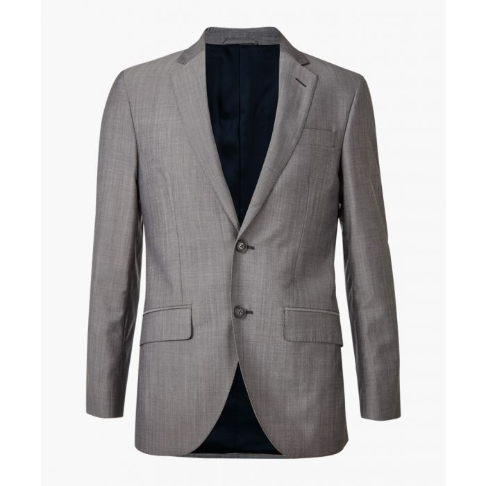 Image for Grey wool & mohair long sleeve blazer