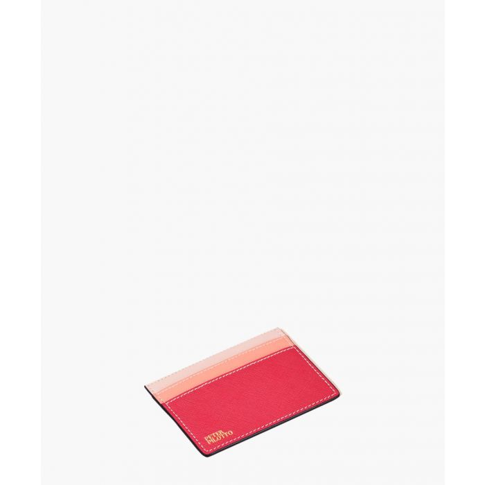 Image for Fuchsia  leather cardholder