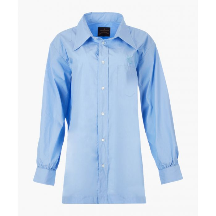 Image for Blue pure cotton utility shirt