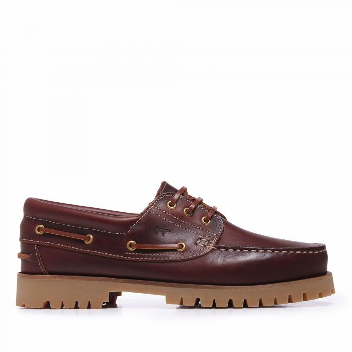 Image for Bordeaux leather boat shoes