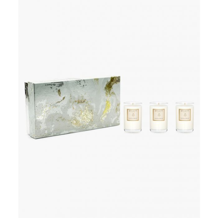 Image for 3pc On The Rocks Pearl Vanilla Parfait travel candle set